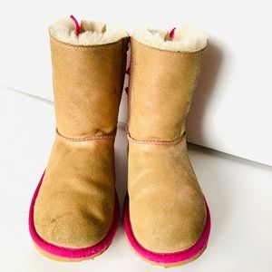 Bailey Bow Brown and Pink boots from UGGS